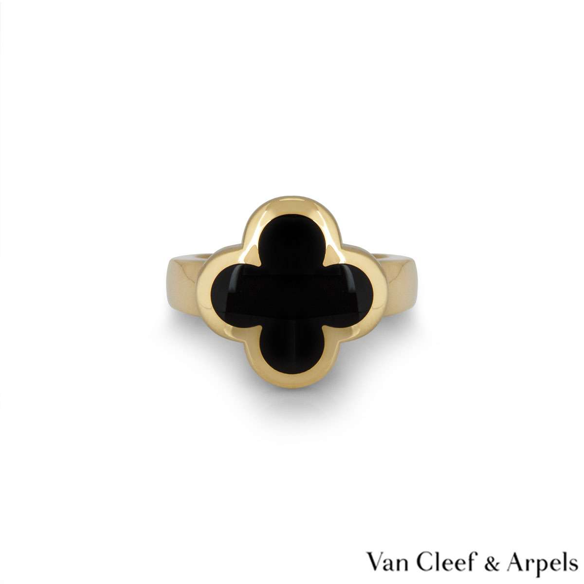 Van Cleef & Arpels Yellow Gold Pure Alhambra Ring VCARB13800